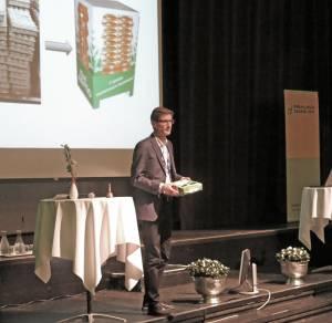 Fredrik Stensson i Stora Enso holdt foredrag på Emballasjedagene 2014.