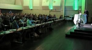 Marius Gonsholt Hov holdt åpningsforedraget på Emballasjedagene 2014.