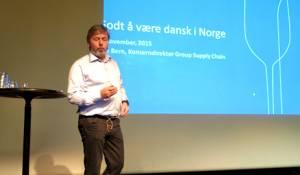 Erik Bern i Arcus fortalte om overtakelsen av Gammel Dansk.