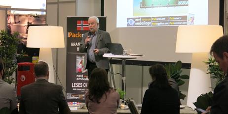 Bo Wallteg var moderator og holdt foredrag om emballasjetrender.