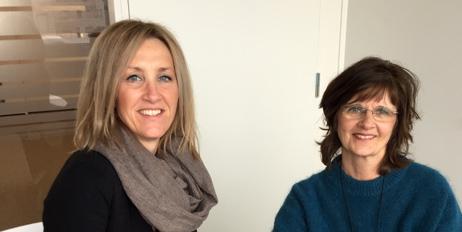 Kari Bunes, direktør i Emballasjeforeningen, og Helga Næs, leder av Emballasjeforsk.