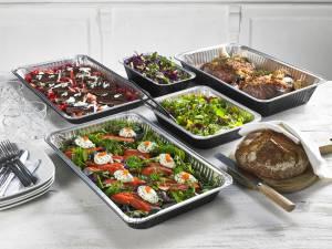 Typiske produkter er aluminiumskåler for fersk laks, salat og sushi.