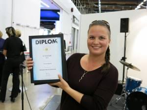 Kelly Hakkebo har hentet flere ScanStar for Glomma Papp de siste årene, her fra 2013.